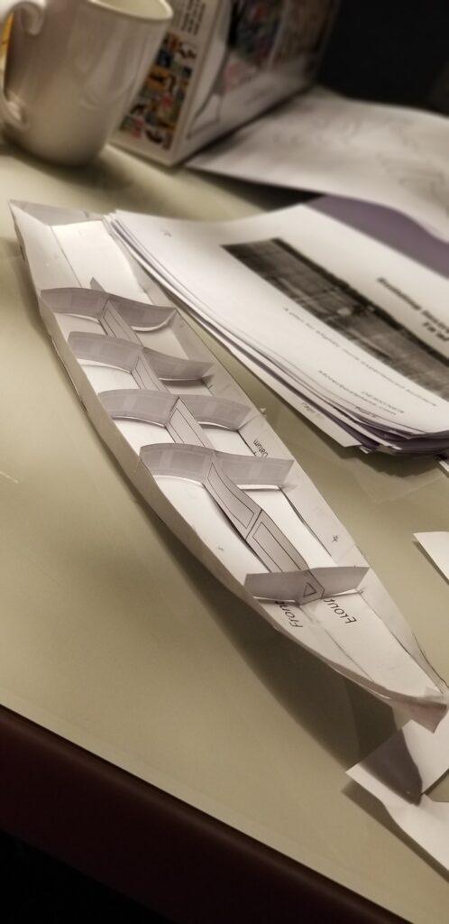 Ta'al paper model starting to take shape